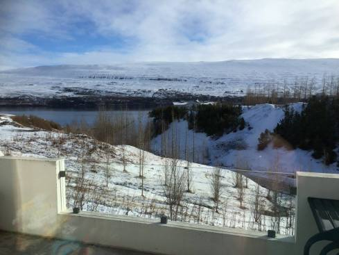 The view of the fjord from the rental.