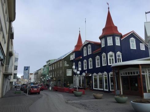 Downtown Akureyri.