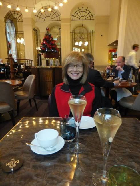 Mom and I having afternoon tea in London, January 2015.