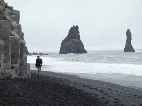 Stop 3: Reynisfara black sand beach with basalt columns.