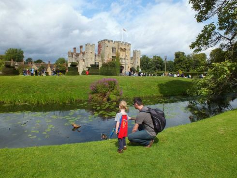 Daddy and A at Hever Castle.