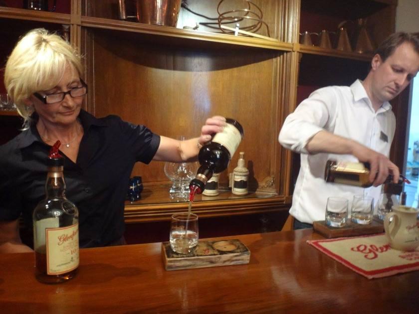 A wee dram at the Glenfarclas Distillery.