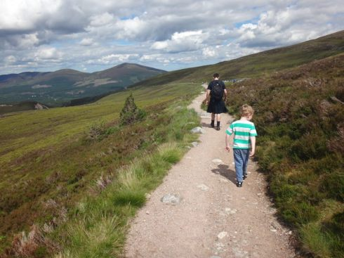 A bit of hiking in the Highlands at Cairngorm Mountain.
