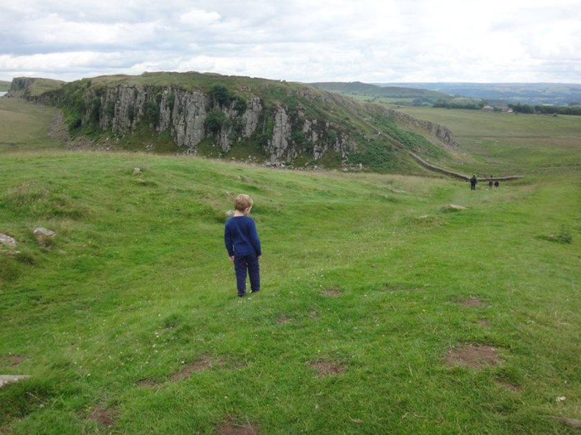 A view of Hadrian's Wall.