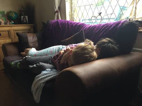 Kids cuddling in Freckleton. :)
