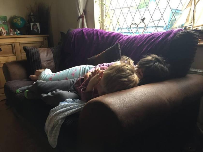 Kids cuddling in Freckleton. :)
