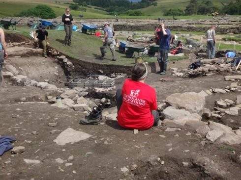 The active excavation at Vindolanda Roman Fort.