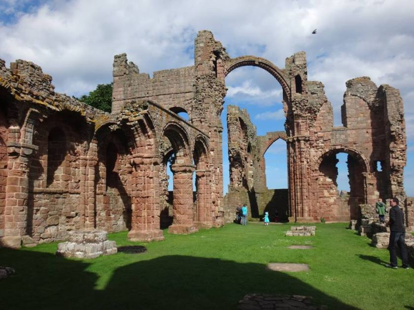 The ruins of Lindisfarne Priory.