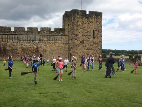 Broom training at Alnwick Castle, England.