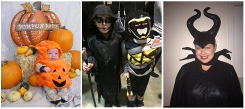 1. A's first Halloween, Colorado 2010. 2. A and friend at the international department's Halloween party, Iceland 2016. 3. Me as Maleficent, Iceland 2016.