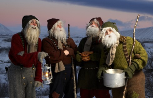 Four of the 13 Yule Lads (photo courtesy of www.northiceland.is)